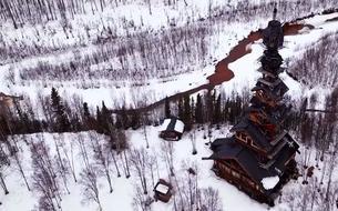 Alaska: une impressionnante cabane de 55 mètres de haut