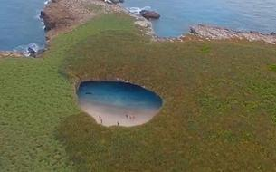 Une plage secrète au Mexique