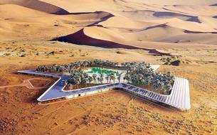Un hôtel écologique construit au cœur du désert