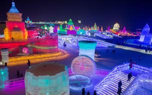 En Chine, un spectaculaire festival de sculptures en glace