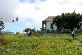 La maison de Longwood, à Sainte-Hélène, où vécut et mourut Napoléon.