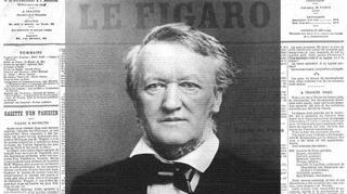 Le Festival de Bayreuth créé par le compositeur allemand Richard Wagner est à la une du <i>Figaro</i> à sa création en août 1876. (photomontage)