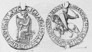 Le sceau représentant Guilhem VIII