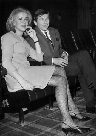 Catherine Deneuve et Roman Polanski après la projection du film «Répulsion», le 7 janvier 1966.
