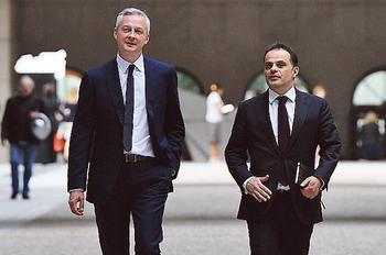 Bruno le Maire, le ministre de l'Economie, et Emmanuel Moulin, son directeur de cabinet.