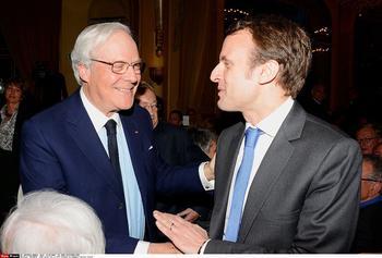 Retrouvailles avec David de Rothschild, en avril 2015, à l'occasion d'un dîner public.