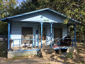 La maison délabrée de Lakisha Wilson.