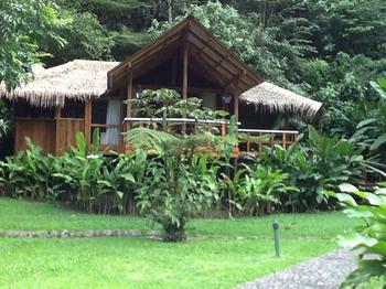 Une chambre au cœur de la forêt tropicale, au bord de la rivière au Pacuare Lodge.