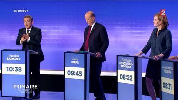 Nicolas Sarkozy, Alain Juppé et Nathalie Kosciusko-Morizet.
