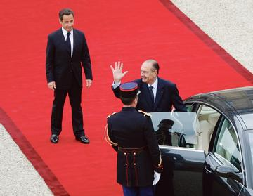 Nicolas Sarkozy et Jacques Chirac, le 16 mai 2007.