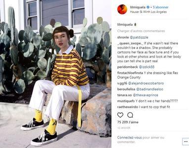 Photo Instagram de la poupée Lil Miquela