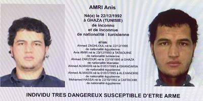 L'avis de recherche pour retrouver Anis Amri.