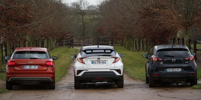 Encadrée par le Q2 et le CX-3, le C-HR est le plus original des trois SUV.