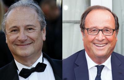 À gauche, Patrick Braoudé qui incarnera François Hollande.