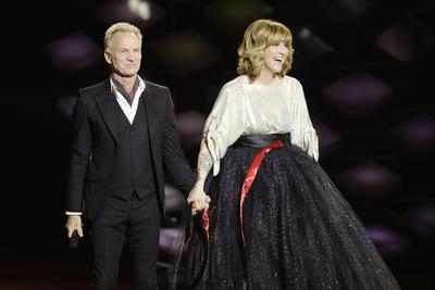 Sting, président d'honneur de la cérémonie, a ouvert la soirée avec Daphné Bürki, avant de chanter «Don't make me wait» avec Shaggy.