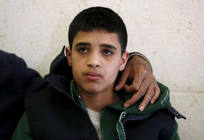 Ahmed Manasra, 14 ans, à Jérusalem, en janvier dernier. Il a été condamné pour terrorisme en juillet.