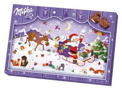En 2015, Milka a vendu 900.000 calendriers de l'Avent en France. Crédit: Mondelez International