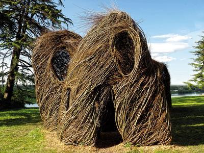 Sculpture végétale de Patrick Dougherty.