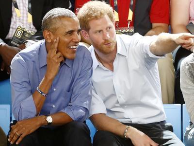 Barack Obama et le Prince Harry en octobre dernier à Toronto.