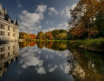 Le château d'Azay-le-Rideau, en Touraine.