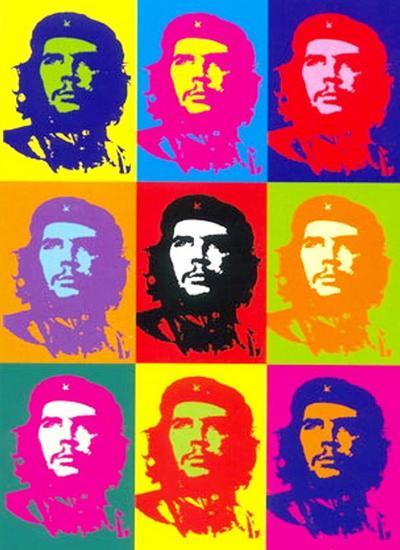 Le portrait sérigraphié de Che Guevara a été utilisé par le pop artist Andy Warhol en 1968.