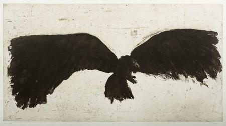 «L'Aigle», de Bo Halbirk, aquatinte, 2004.