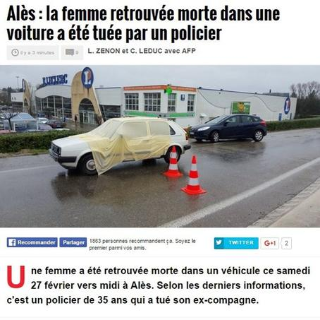 Selon Midi Libre, la circulation a été interrompue après le drame. Capture d'écran du site du journal.