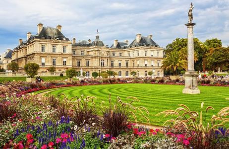 Le jardin du Luxembourg à Paris.