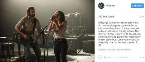 Lady Gaga et Bradley Cooper sur le tournage d' «A Star is Born» qui sortira courant 2018.
