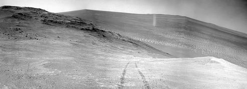 Opportunity est témoin d'un tourbillon sur Mars