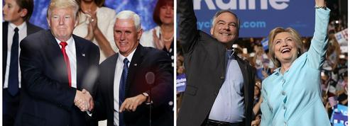 Pence-Kaine: quelles sont les positions des colistiers de Trump et Clinton ?