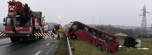 Quatre morts dans un accident de bus en Saône-et-Loire