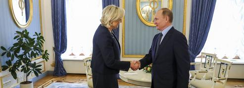 Vladimir Poutine a reçu Marine Le Pen