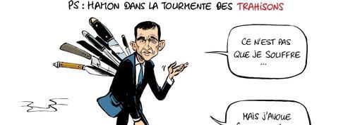 Le dessin d'Ixène : «Hamon dans la tourmente des trahisons»