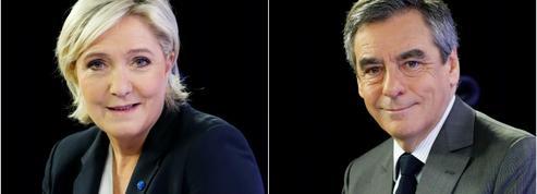 Fillon et Le Pen se posent en défenseurs intransigeants de la laïcité