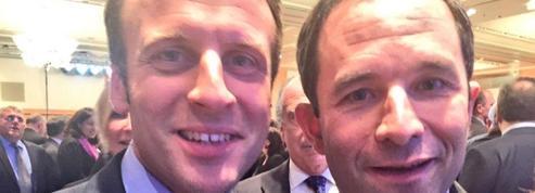 Entre Macron et Hamon, une rivalité de circonstance