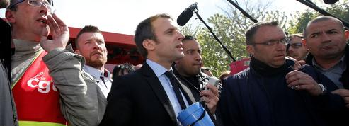 Après le coup de com' de Le Pen, Macron sifflé sur le site de Whirlpool