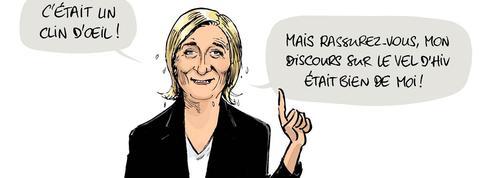 Le dessin d'Ixène sur le plagiat par Marine Le Pen