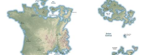 Présidentielle : explorez la carte du continent Macron et des îles Le Pen