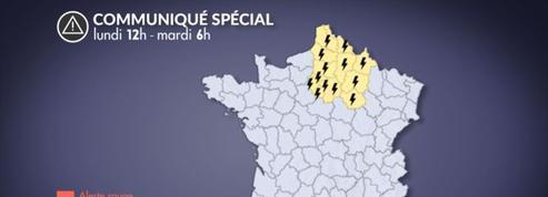 Orages: risque important dans le nord de la France ce lundi