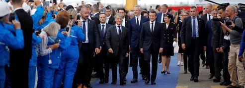 Á Saint-Nazaire, Macron fait de STX un symbole de sa réforme du marché du travail