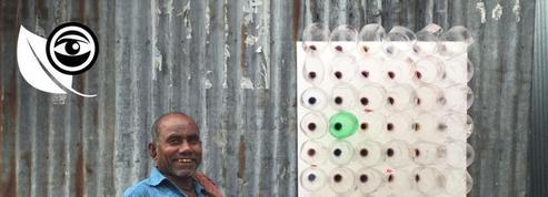 Au Bangladesh, des bouteilles en plastique en guise de climatiseur