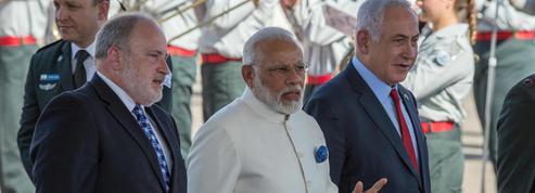 Visite «historique» de l'Indien Modi en Israël