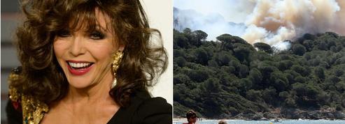 Incendies : Joan Collins et le Grand-Duc du Luxembourg évacués en urgence
