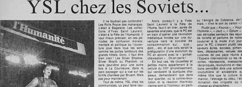 À la Fête de l'Huma en 1988 Yves Saint Laurent fait le buzz