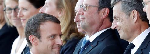 JO : Macron, Hollande et Sarkozy sur le podium