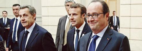 Macron célèbre les JO 2024 avec Sarkozy et Hollande