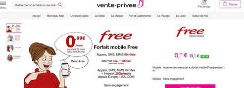La bonne astuce de Free sur vente-privée