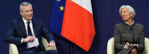 Christine Lagarde applaudit «des deux mains» la politique d'Emmanuel Macron