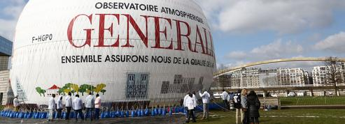 Le nouveau Ballon de Paris du parc André Citroën se nettoie tout seul